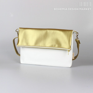 Fold Bag Gold & White